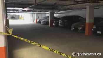Man shot multiple times in Langley underground parkade