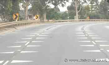 Drivers left baffled by white triangles in the road, seen on Ballarat Road in Melbourne