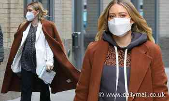 Hilary Duff masks up on the NYC set of Younger... after complaining about pregnancy