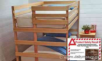 Children's bunk bed is recalled over fears of 'entrapment, fall and strangulation'