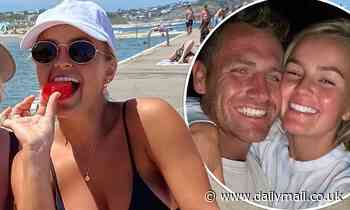 The Bachelorette: Bikini-clad Elly Miles enjoys the single life as she hits the beach with friends