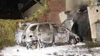 Brandstiftung?: Auto brennt in Kolkwitz ab - Lausitzer Rundschau