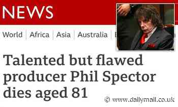 BBC apologises for calling killer Phil Spector 'talented but flawed' in headline about his death
