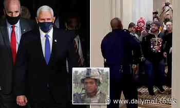 Pence is trying to personally thank hero Capitol cop Eugene Goodman