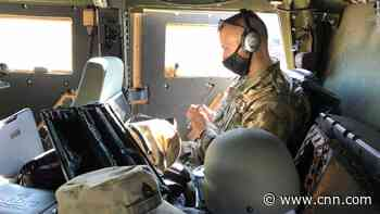 National Guardsman holds music classes from the back of a Humvee while protecting the US Capitol