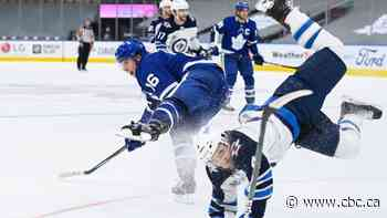 Marner, Tavares fire Maple Leafs past Laine-less Jets in 1st of 10 season meetings