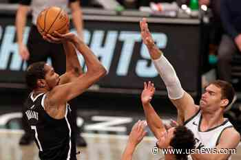 Harden, Durant Star as Nets Edge Bucks 125-123