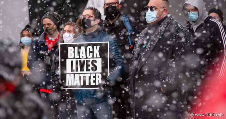 About 60 people rally in SLC to support Black lives and police reform