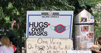 13 'Hugs Over Masks' protestors charged after another demonstration at Hamilton city hall - Global News