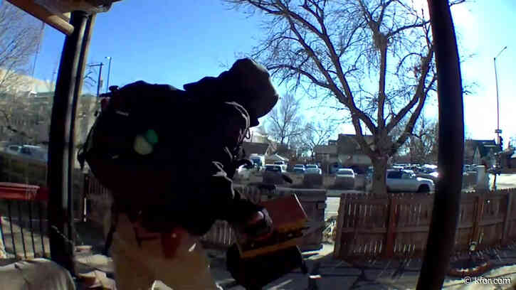 WATCH: Denver woman confronts porch pirate caught in the act