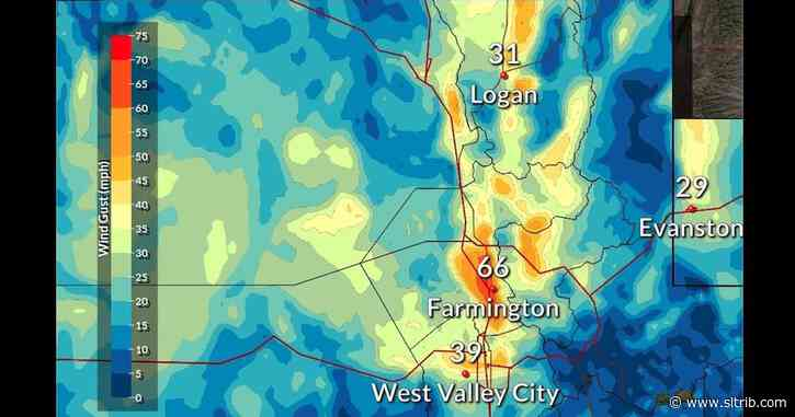 Strong winds, scattered power outages hit northern Utah