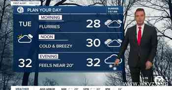 Metro Detroit Forecast: Cold and windy day; more snow showers tonight - WXYZ