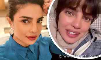 Priyanka Chopra jokes she's become an 'up-do expert' as she shows off her glamorous hairstyle