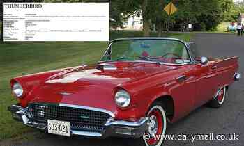 Is the Ford Thunderbird making a comeback? Carmaker files a new trademark for the iconic car