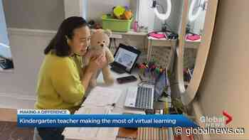 Toronto kindergarten teacher making the most of virtual learning