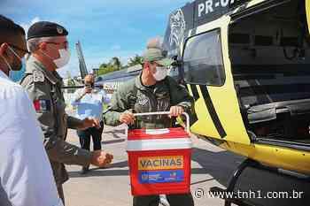 Aeronaves do Grupamento Aéreo transportam vacinas para hospitais de Porto Calvo e Arapiraca - TNH1