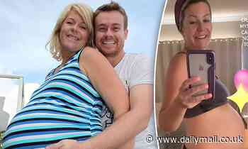 Chezzi Denyer marks her third pregnancy by sharing a throwback picture of her and husband Grant