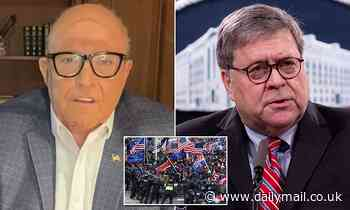 Rudy Giuliani calls Barr 'treacherous' for blaming Trump for Capitol riots