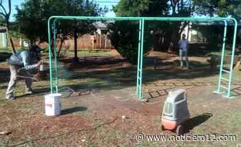 Posadas: repararon y acondicionaron plazas en Dolores Sur - Noticiero12.com