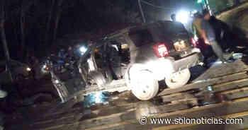 Un menor fallecido y 4 lesionados tras fuerte accidente en Conchagua, La Unión - Solo Noticias