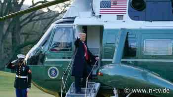 Helikopter ist abgehoben: Trump verlässt Washington