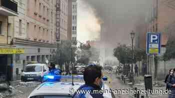 Explosion in Madrid: Ursache bisher unklar - Videos zeigen Ausmaß