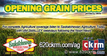 Opening grain prices Wednesday Jan 20 - 620 CKRM.com