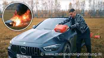 Verrückte Aktion: Influencer fackelt seinen Mercedes AMG ab