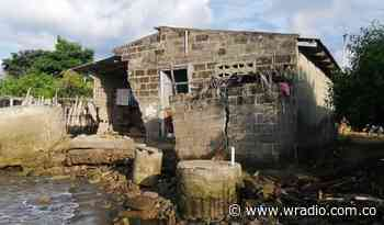 Erosión costera arrasó con 22 viviendas y cementerio de Bahía Rada, Moñitos - W Radio