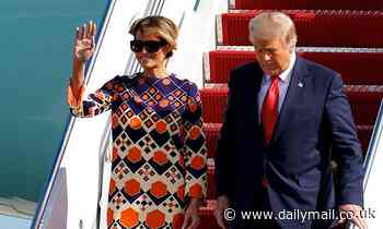 Donald and Melania Trump arrive in Mar-a-Lago after leaving Washington DC