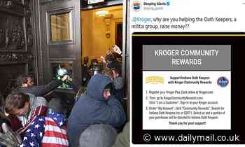 Kroger cuts funding to militia group Indiana Oath Keepers which is accused of storming the Capitol