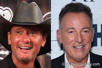 Tim McGraw Once Cheered Up a Crestfallen Bruce Springsteen