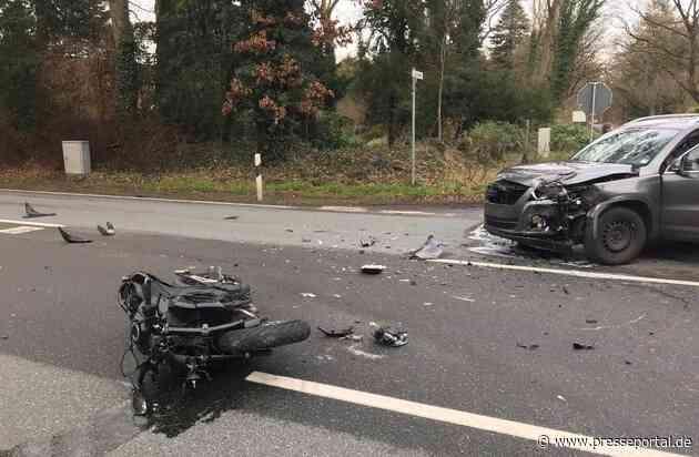 POL-WHV: Verkehrsunfall Motorrad/PKW - Motorradfahrer verletzt