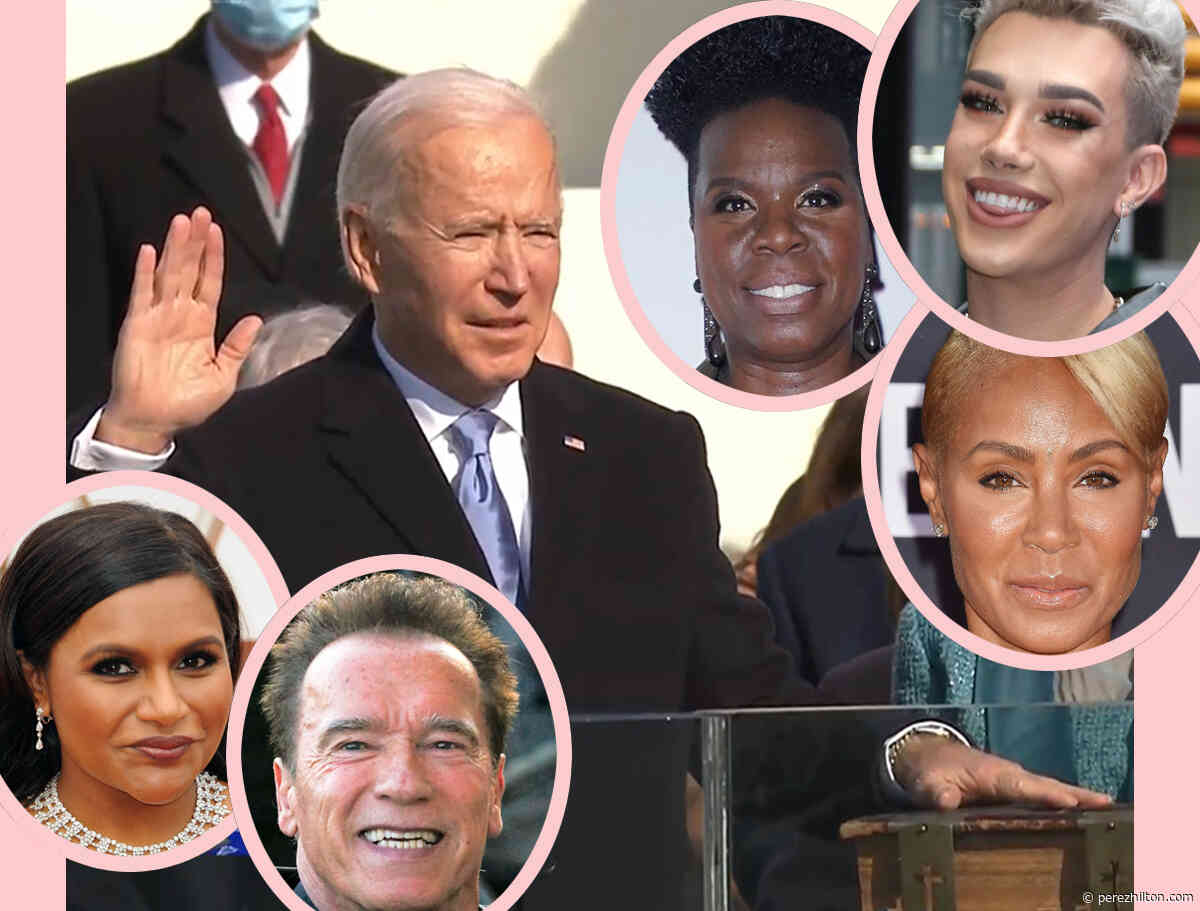 Celebs React To Joe Biden & Kamala Harris' Historic & Emotional Inauguration!