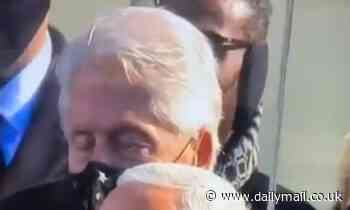 Bill Clinton appears to FALL ASLEEP during Biden inauguration