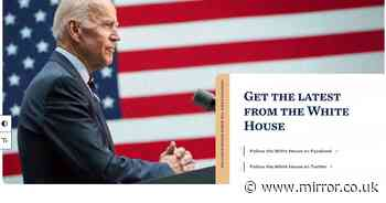 Hidden message added to White House website after Joe Biden became President