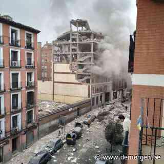 Zware ontploffing in gebouw in centrum van Madrid: minstens 3 doden