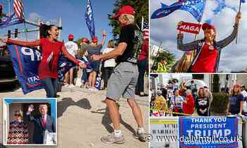 Donald Trump fans dance in Mar-a-Lago streets as Biden is sworn in