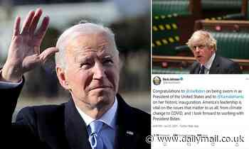 Boris Johnson hails inauguration of Joe Biden after 'bumpy period'