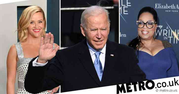 Oprah Winfrey and Reese Witherspoon lead stars  celebrating Joe Biden's inauguration