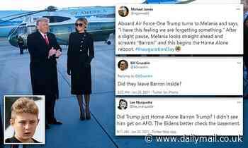 Barron Trump was absent from dad's farewell speech