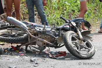 Motociclista herido dejó accidente de tránsito en vía Sahagún – Chinú - LA RAZÓN.CO