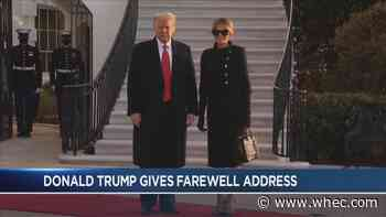 Trump delivers brief address before leaving for Florida
