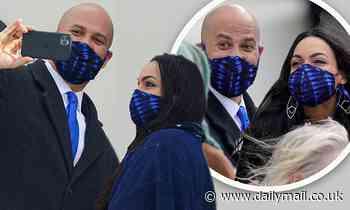 Rosario Dawson and Cory Booker attend Joe Biden's Inauguration