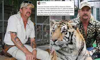 Joe Exotic says he was 'too innocent and too gay' for Donald Trump to pardon