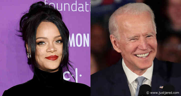 Rihanna Celebrates President Biden's Inauguration With Cheeky Photo Taking Out the Trash