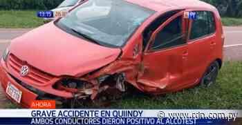 Dos conductores en estado etílico chocan en Quiindy - Resumen de Noticias