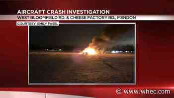Helicopter crashes in Mendon