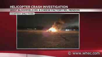 Military helicopter crashes in Mendon