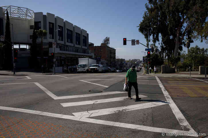 Signs Warning Of COVID-19 Placed In Some High-Risk Areas Of Los Angeles